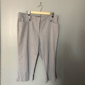Counterparts striped career capris 14